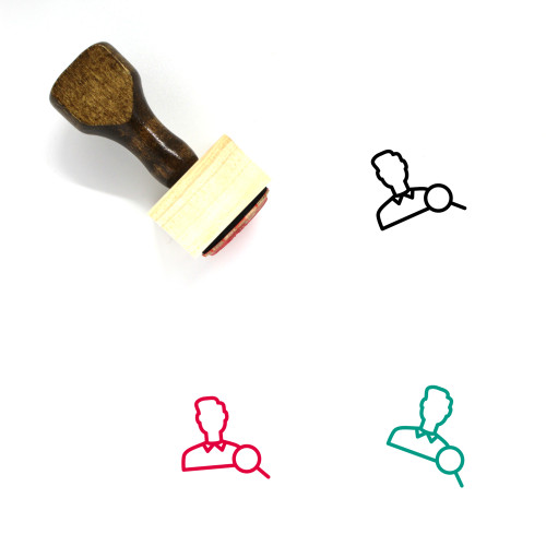 User Search Wooden Rubber Stamp No. 4