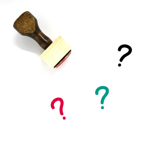 Question Wooden Rubber Stamp No. 100