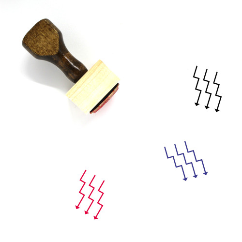 Down Arrows Wooden Rubber Stamp No. 6