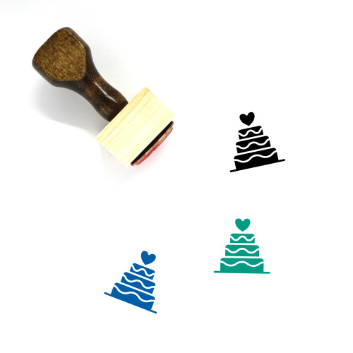 Cake Wooden Rubber Stamp No. 108