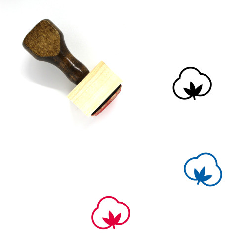 Cotton Wooden Rubber Stamp No. 19