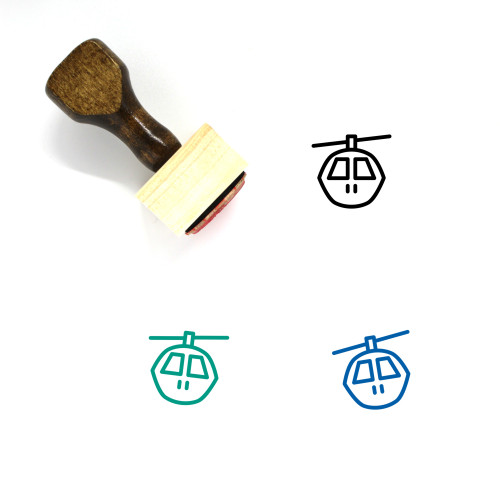 Cable Car Wooden Rubber Stamp No. 49