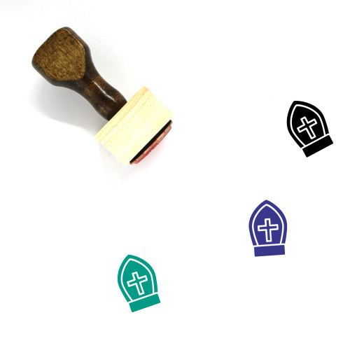 Christian Symbol Wooden Rubber Stamp No. 4