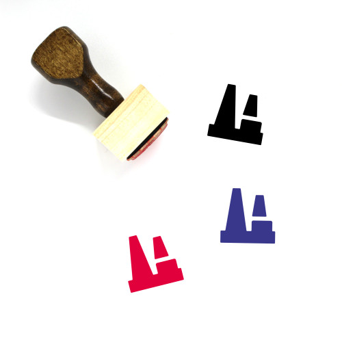 Factory Wooden Rubber Stamp No. 134