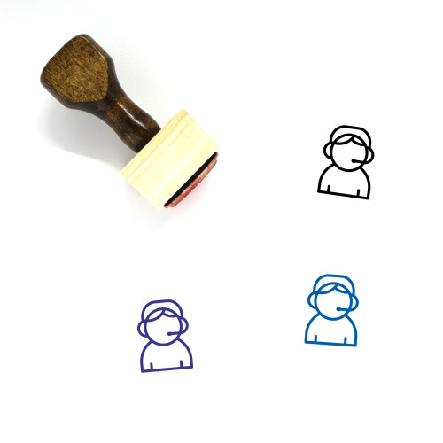 Call Center Wooden Rubber Stamp No. 39