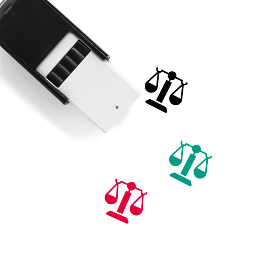Balance Scale Self-Inking Rubber Stamp No. 29