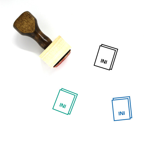 Ini Wooden Rubber Stamp No. 37