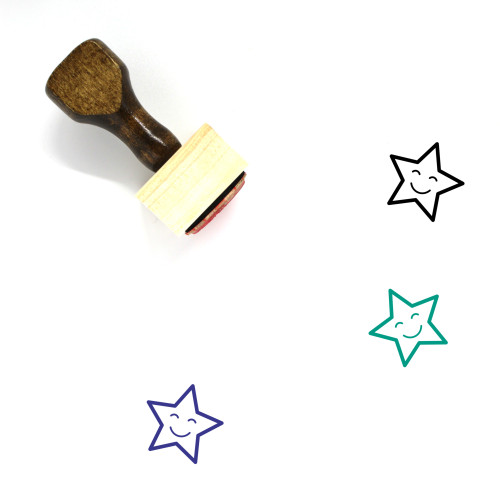 Star Wooden Rubber Stamp No. 897
