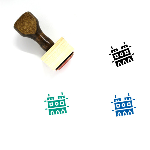 Notre Dame Wooden Rubber Stamp No. 18