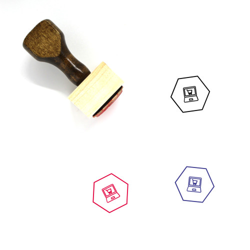 Online Shopping Wooden Rubber Stamp No. 79