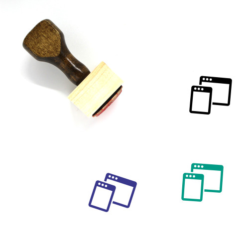 Responsive Browsers Wooden Rubber Stamp No. 1