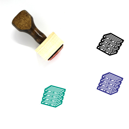 Pallets Wooden Rubber Stamp No. 1