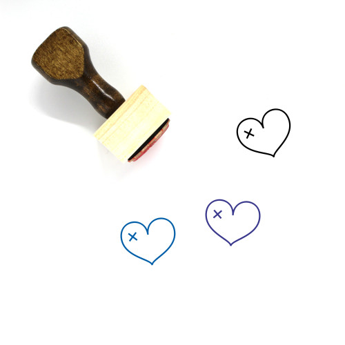 Broken Heart Wooden Rubber Stamp No. 160