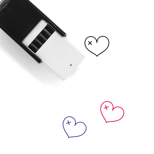 Broken Heart Self-Inking Rubber Stamp No. 160
