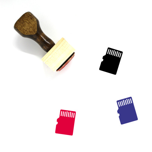 Memory Card Wooden Rubber Stamp No. 84