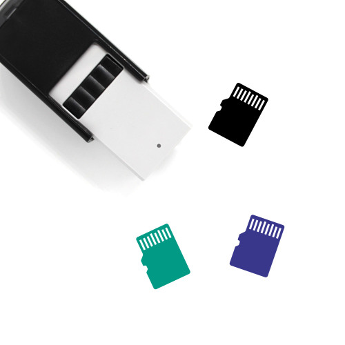 Memory Card Self-Inking Rubber Stamp No. 84