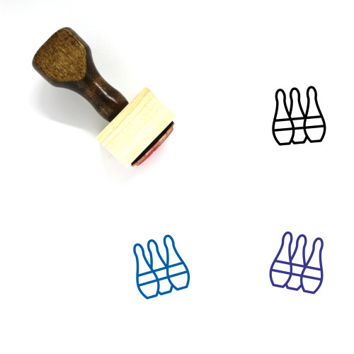 Bowling Wooden Rubber Stamp No. 33