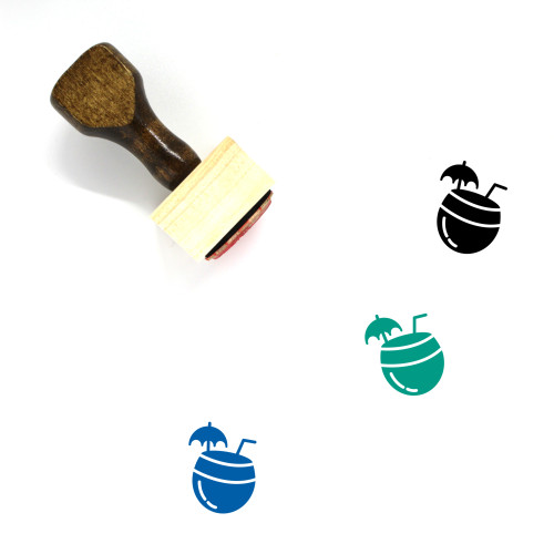 Coconut Water Wooden Rubber Stamp No. 35