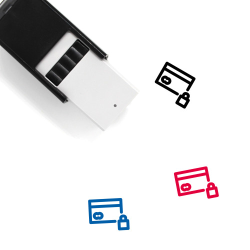Lock Credit Card Self-Inking Rubber Stamp No. 5
