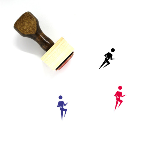 Runner Wooden Rubber Stamp No. 29