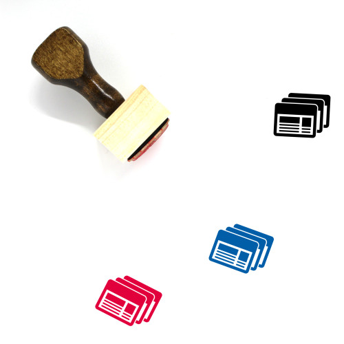 Files Wooden Rubber Stamp No. 56
