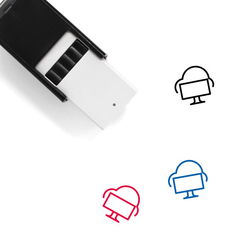 Cloud Computer Self-Inking Rubber Stamp No. 1
