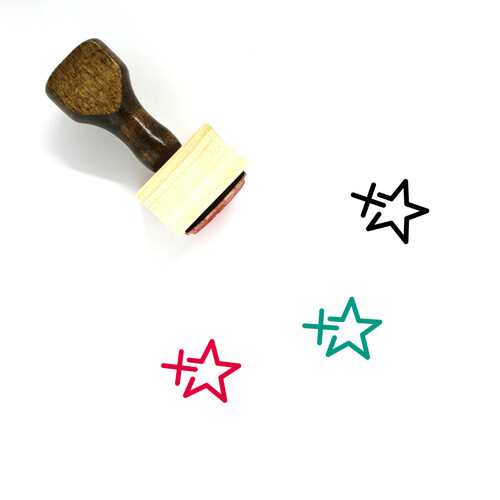 Add To Favorites Wooden Rubber Stamp No. 2