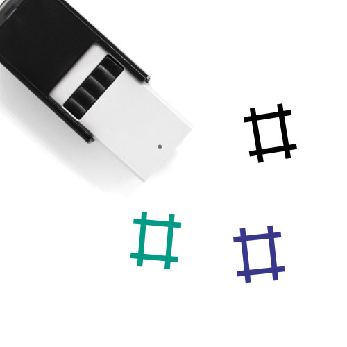 Hashtag Self-Inking Rubber Stamp No. 14