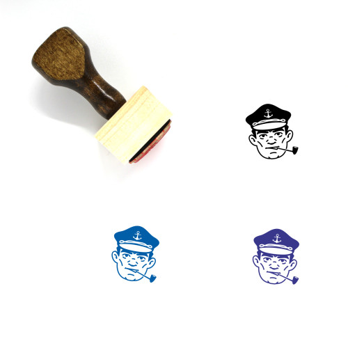 Captain Wooden Rubber Stamp No. 23