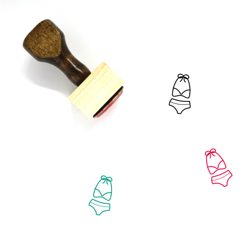 Bikini Wooden Rubber Stamp No. 63