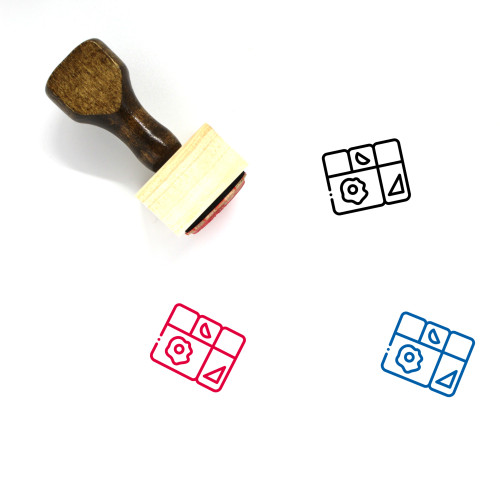Meal Wooden Rubber Stamp No. 36
