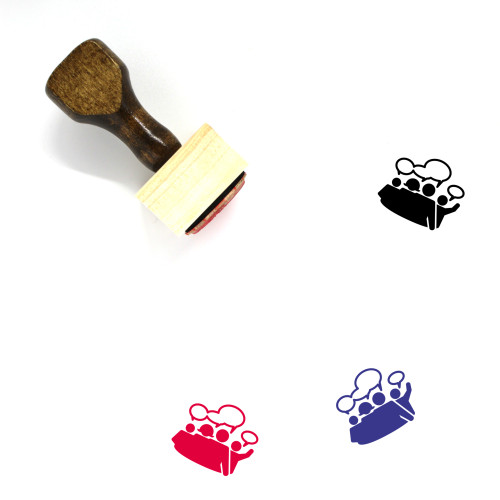 Discussion Wooden Rubber Stamp No. 84