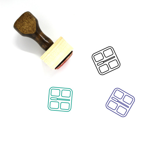 Makeup Wooden Rubber Stamp No. 140