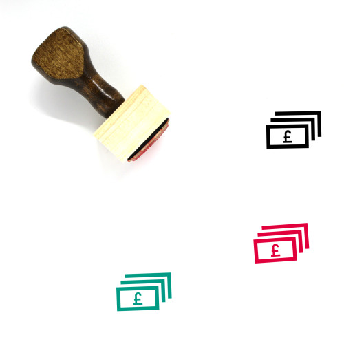 Pounds Wooden Rubber Stamp No. 15