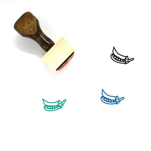 Green Peas Wooden Rubber Stamp No. 2