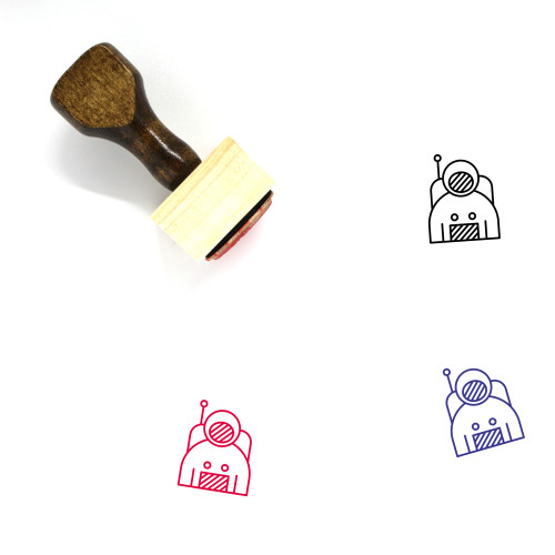 Astronaut Wooden Rubber Stamp No. 71
