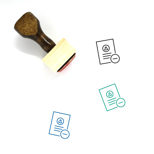 Delete Document Wooden Rubber Stamp No. 40