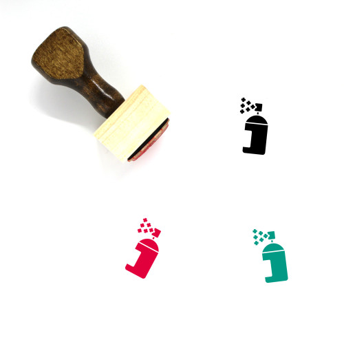 Spray Can Wooden Rubber Stamp No. 14