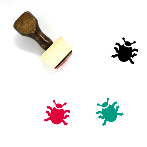 Beetle Wooden Rubber Stamp No. 19