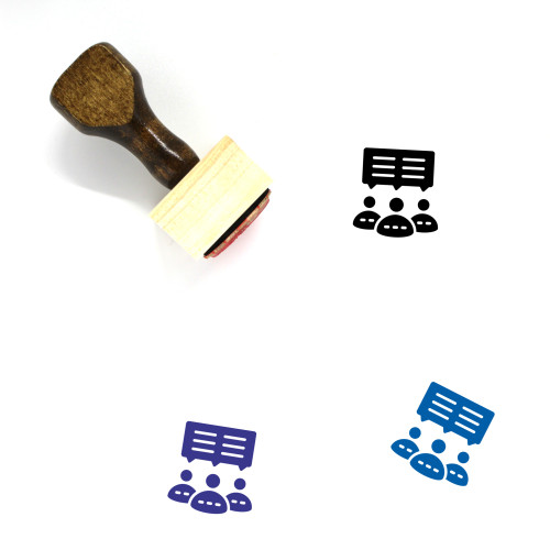 Group Discussion Wooden Rubber Stamp No. 42