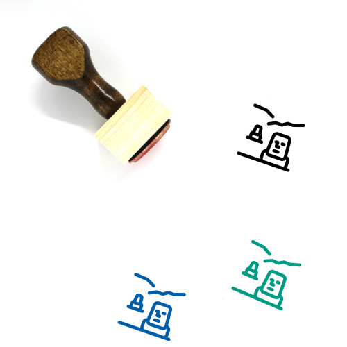 Easter Island Wooden Rubber Stamp No. 8