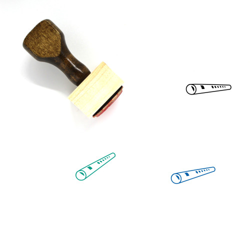 Bamboo Flute Wooden Rubber Stamp No. 1
