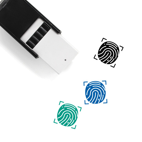 Finger Print Self-Inking Rubber Stamp No. 32