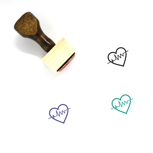Heartbeat Wooden Rubber Stamp No. 71