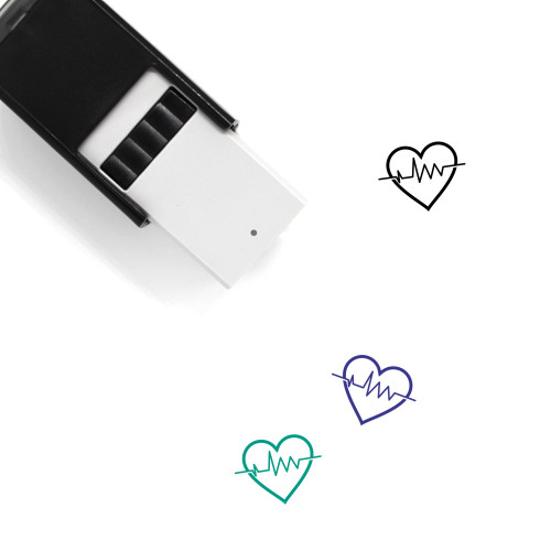 Heartbeat Self-Inking Rubber Stamp No. 71