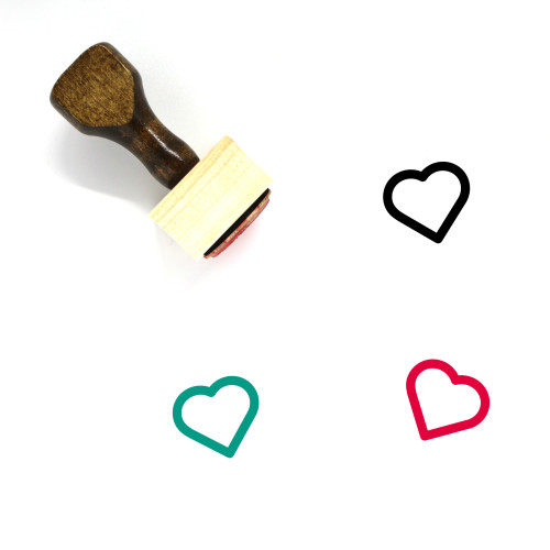 Heart Wooden Rubber Stamp No. 1501
