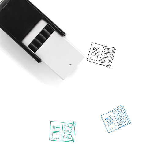 Coupon Book Self-Inking Rubber Stamp No. 1