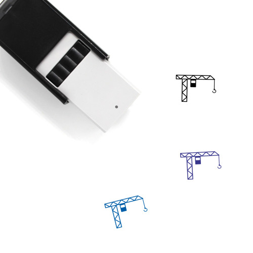 Construction Crane Self-Inking Rubber Stamp No. 17