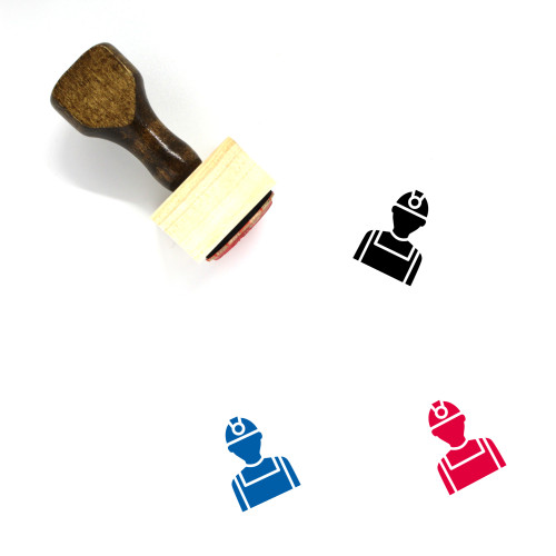 Labour Wooden Rubber Stamp No. 5