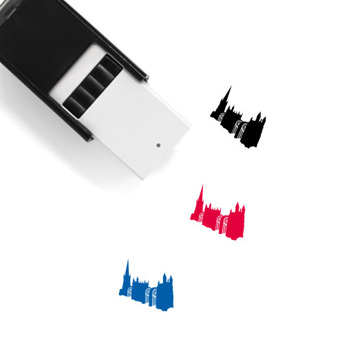 Sliced Cathedral Self-Inking Rubber Stamp No. 1